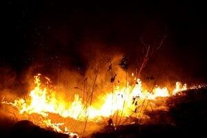 Lesný požiar v brazílskom štáte Rondonia.