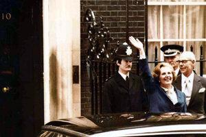 Margaret Thatcherová po víťazstve vo voľbách v roku 1979.