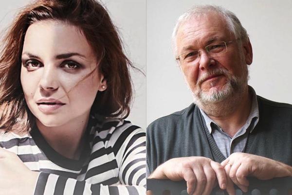 Herečka Petra Vajdová a operný spevák a pedagóg Peter Mikuláš.