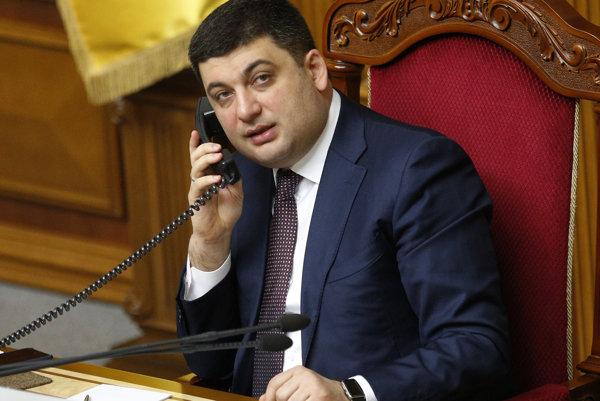 Volodymyr Hrojsman, premiér Ukrajiny.