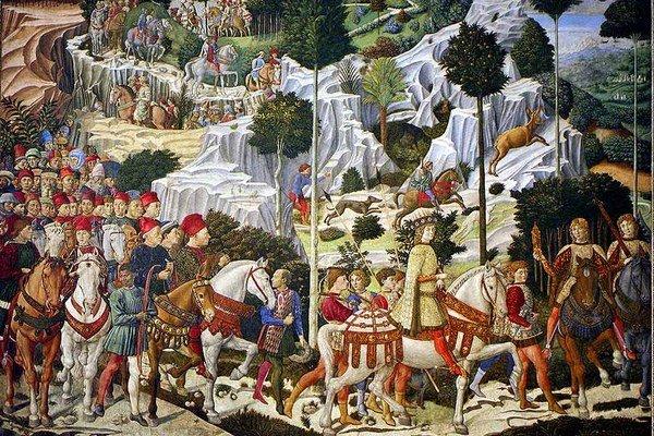 Mediciovci milovali umenie. Nechali sa zobraziť ako postavy aj na freske od Benozza Gozzoliho.