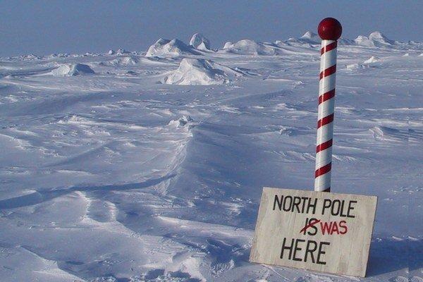 Severný pól sa presúva inam.