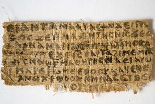 Text zrejme zo štvrtého storočia tvrdí, že Ježiš mal manželku aj učeníčku. Podľa Karen Kingovej to môže byť prepis ešte staršieho gréckeho textu.