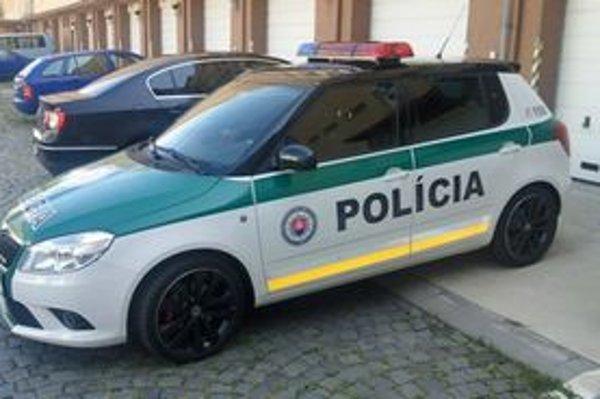 Policajná Fabia RS, ktorú budú testovať tri mesiace na cestách bratislavského kraja.
