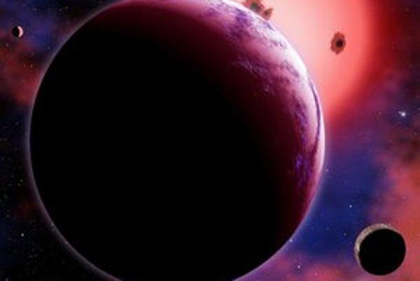 Planéta pri červenom trpaslíkovi.