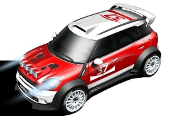 Oficiálna skica naznačuje, ako bude vyzerať súťažné auto odvodené od Mini Countryman.