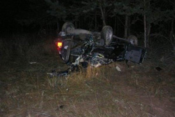 Túto nehodu spôsobil diviak, ktorý vbehol autu pod kolesá.