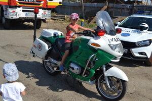Policajná motorka.