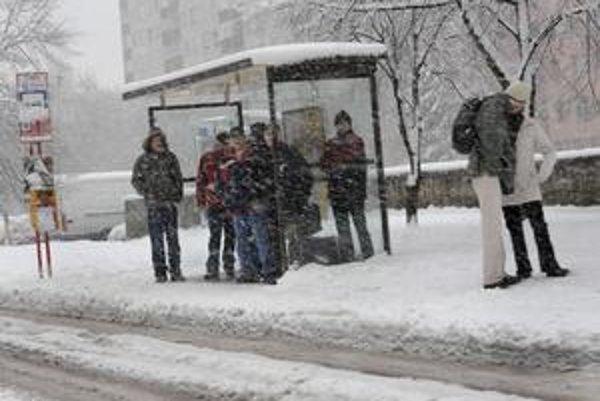 Niekoľkodňové sneženie vytvorilo asi 20 cm snehovú vrstvu. 17. februára 2009 v Bratislave