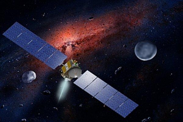 Sonda Dawn pri asteroide Vesta.