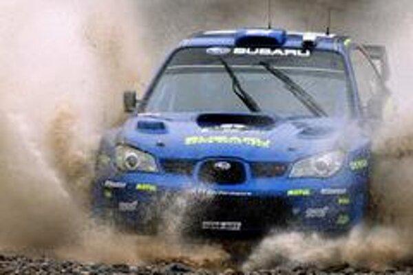 Petter Solberg počas rýchlostnej skúšky
