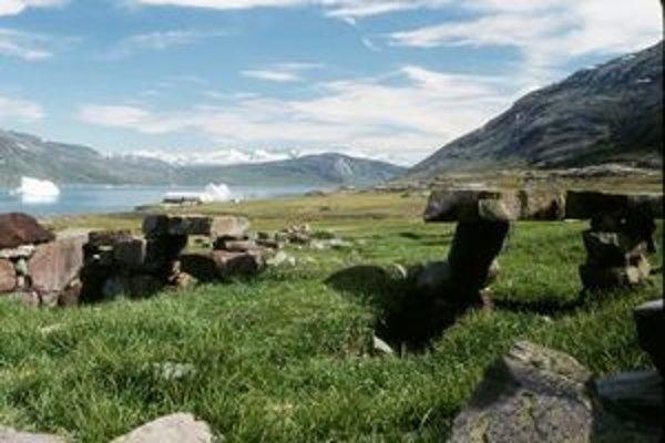 Pozostatky po vikingskom osídlení v Grónsku.