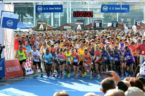 Medzinárodný maratón mieru v Košiciach.