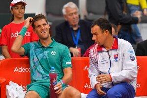 Kapitán Dominik Hrbatý sa bude v zápase proti Švajčiarsku spoliehať aj na výkony tímovej jednotky Martina Kližana.
