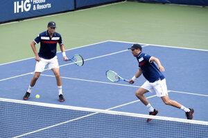 Bratia Bryanovci počas US Open 2019.