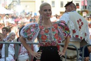 Jankovská počas Slovenského dňa kroja v Banskej Bystrici, v septembri 2018.