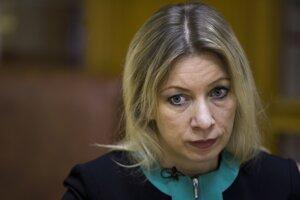 Hovorkyňa ruského ministerstva zahraničných vecí Marija Zacharovová.
