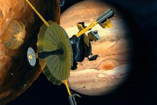Sonda Galileo skúmala Jupiter a jeho okolie.