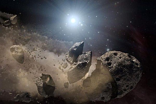 """Pri pokuse zničiť asteroid jadrovou zbraňou sa môže stať, že kozmické teleso by sa znovu """"zložilo"""" dokopy."""