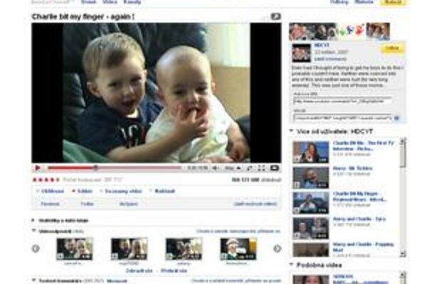 Najsledovanejšie na stránke YouTube sú najmä zvláštne rodinné videá.