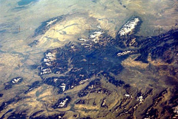 Yellowstonský národný park z kozmu.