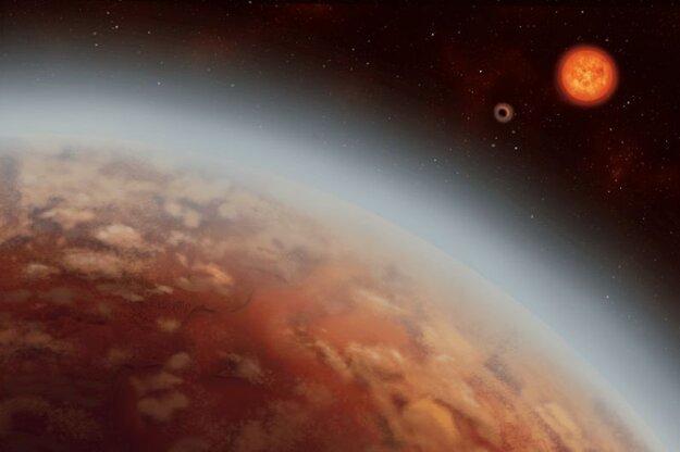 Vizualizácia exoplanéty K2-18b.