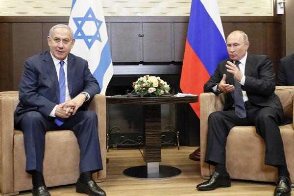 Izraelský premiér Benjamin Netanjahu v Soči na stretnutí s ruským prezidentom Vladimirom Putinom.