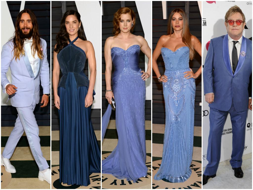 Zľava: Jared Leto, Olivia Munn, Amy Adams, Sofia Vergara, Elton John