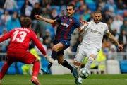 Karim Benzema (vpravo) v zápase 4. kola La Ligy 2019/2020 Real Madrid - UD Levante.