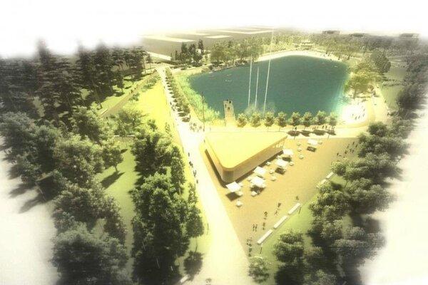 Vizualizácia jazera v projekte Nové Vajnory.