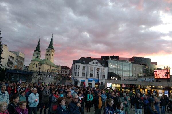 Septembrové zhromaždenie Za slušné Slovensko v Žiline.