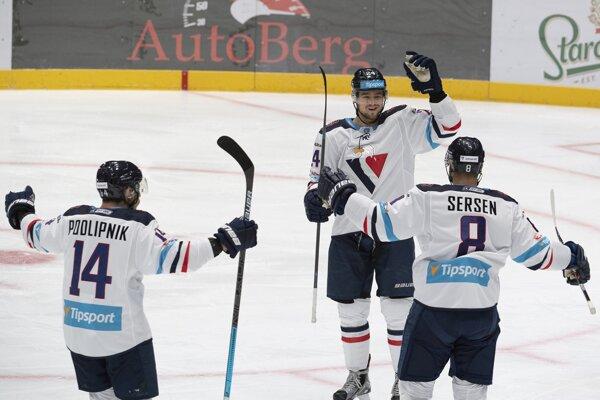 Hokejisti HC Slovan Bratislava.