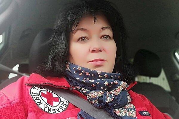 Riaditeľka Územného spolku Slovenského Červeného kríža vČadci Elena Tomašiková.