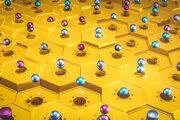 Umelecká predstava qubitov v superpozícii.