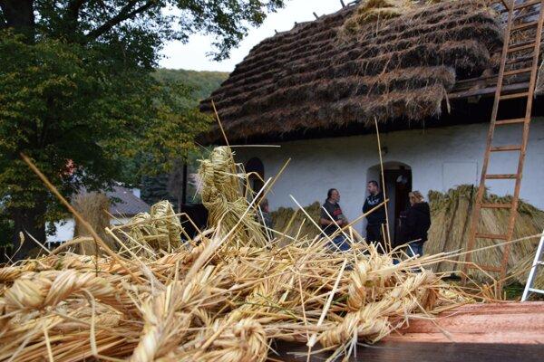 Na opravu strechy používajú v Bartošovej Lehôtke takzvanú kribicu - druh raže s dlhými steblami.