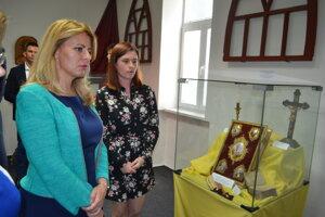 Prezidentka Zuzana Čaputová počas návštevy Múzea rusínskej kultúry v Prešove.