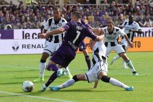 Franck Ribéry (7) v zápase 7. kola Serie A 2019/2020 ACF Fiorentina - Udinese Calcio.