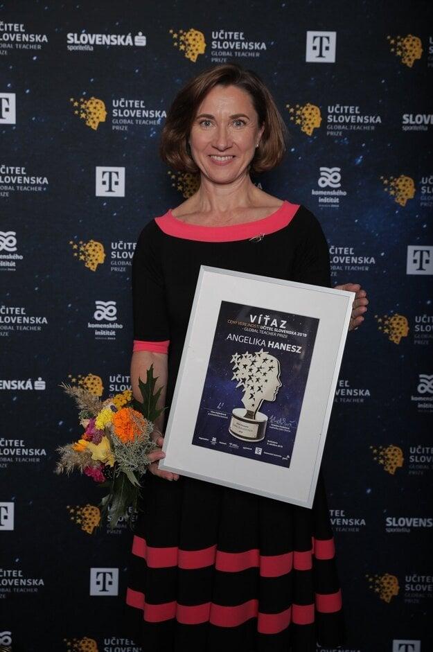Cena verejnosti Učiteľa Slovenska 2019 potešila Angeliku Hanesz.