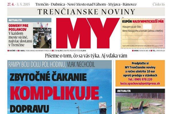 Najnovšie vydanie regionálneho týždenníka prináša témy, ktoré sa vás týkajú.