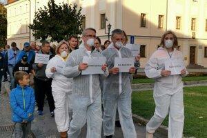 Druhý protest proti smradu v Levoči.