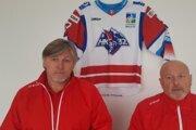 Anton Tomko hlavný tréner Liptákov a Milan Čanky generálny manažer klubu.