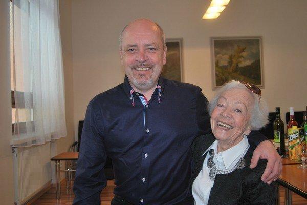 S mamou - herečkou Evou Landlovou