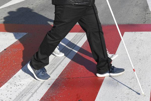 Osvetová akcia Deň bielej palice bola zameraná na bezpečnosť chodcov so zrakovým postihnutím v doprave i na uliciach.