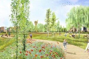Vizualizácia novej štvrte Mayer, ktorá vznikne pri Malackách.