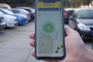 Pomocou aplikácie nájdete voľný elektromobil zaparkovaný vo vašom okolí.