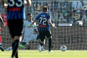 Josip Iličič v útočnej akcii počas zápasu 9. kola Serie A 2019/2020 Atalanta Bergamo - Udinese Calcio.