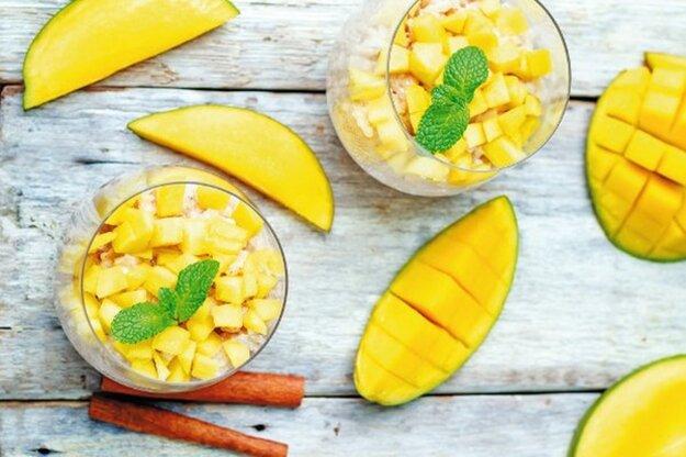 Ryžový puding s mangom