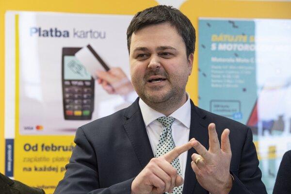 Generálny riaditeľ Slovenskej pošty Peter Helexa.