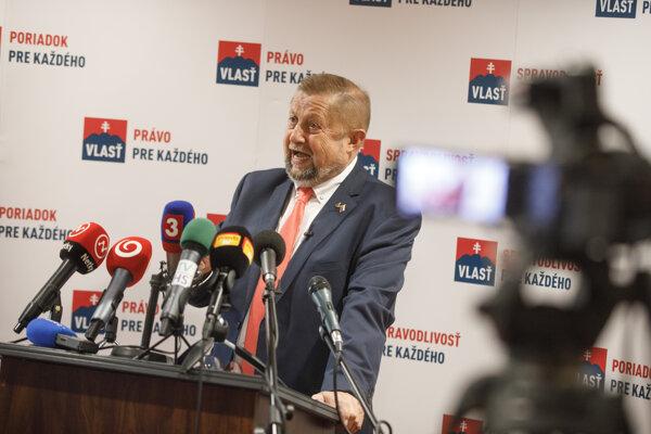 Štefan Harabin, volebný líder strany Vlasť.