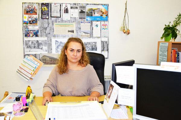 Terénna pracovníčka Mária Micheľová.